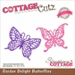 CottageCutz Elites Die - Garden Delight Butterflies