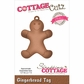 CottageCutz Elites Die - Gingerbread Tag