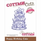 CottageCutz Elites Die - Happy Birthday Cake