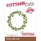 CottageCutz Elites Die - Holly Wreath