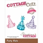 CottageCutz Elites Die - Party Hats