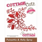 CottageCutz Elites Die - Poinsettia & Holly Spray