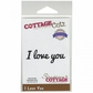"""CottageCutz Expressions Die 2.4""""x.8"""" - I Love You"""