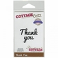 "CottageCutz Expressions Die 2.6""x.8"" - Thank You"