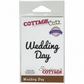 "CottageCutz Expressions Die 3.3""x.8"" - Wedding Day"