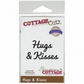 "CottageCutz Expressions Die 3.7""x.8"" - Hugs & Kisses"