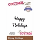 CottageCutz Expressions Die - Happy Holidays