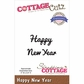 CottageCutz Expressions Die - Happy New Year