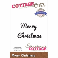 CottageCutz Expressions Die - Merry Christmas