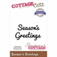 CottageCutz Expressions Die - Season's Greetings