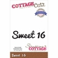 CottageCutz Expressions Die - Sweet 16