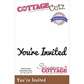 CottageCutz Expressions Die - You're Invited