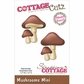 "CottageCutz Mini Die 1.75""x1.75"" - Mushrooms"