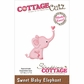 CottageCutz Mini Die - Sweet Baby Elephant
