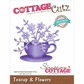 CottageCutz Petites Die - Teacup & Flowers