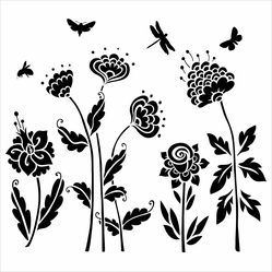 "Crafter's Workshop Template 12""x12"" - Flying Garden - Click to enlarge"