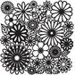 """Crafter's Workshop Template 12""""x12"""" - Flower Frenzy"""
