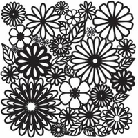 "The Crafter's Workshop Template 12""x12"" - Flower Frenzy"