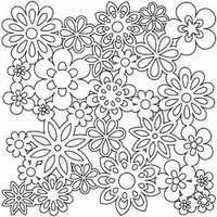 "The Crafter's Workshop Template 12""x12"" - Flowers"
