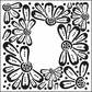 "Crafter's Workshop Template 6""x6"" - Mini Flower Frame"