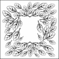 "Crafter's Workshop Template 6""x6"" - Mini Leaf Frame"