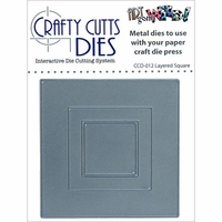 Crafty Cutts Metal Die - Layered Square