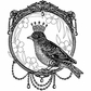 Crafty Individuals Unmounted Rubber Stamp - A Royal Bird
