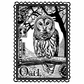 Crafty Individuals Unmounted Rubber Stamp - Airmail Owl
