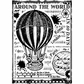 Crafty Individuals Unmounted Rubber Stamp - Around The World