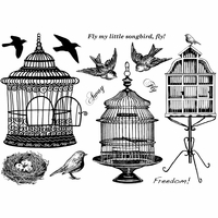 Crafty Individuals Unmounted Rubber Stamp - Beautiful Birdcages