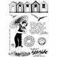 Crafty Individuals Unmounted Rubber Stamp - Beside The Sea