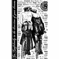 Crafty Individuals Unmounted Rubber Stamp - Bicycle Embrace