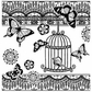 Crafty Individuals Unmounted Rubber Stamp - Bird & Butterflies