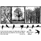 Crafty Individuals Unmounted Rubber Stamp - Birds On A Wire