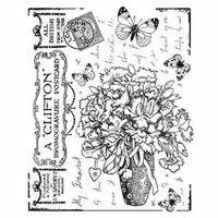 Crafty Individuals Unmounted Rubber Stamp - Butterfly Bouquet