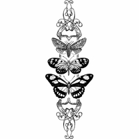 Crafty Individuals Unmounted Rubber Stamp - Butterfly Trio Panel