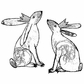 Crafty Individuals Unmounted Rubber Stamp - Crowned Bunnies