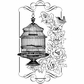 Crafty Individuals Unmounted Rubber Stamp - Floral Birdcage