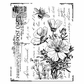 Crafty Individuals Unmounted Rubber Stamp - Floral Postcard