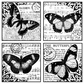 Crafty Individuals Unmounted Rubber Stamp - Four Beautiful Butterflies