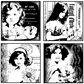 Crafty Individuals Unmounted Rubber Stamp - Four Pretty Young Girls