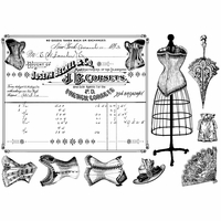 Crafty Individuals Unmounted Rubber Stamp - French Corsets