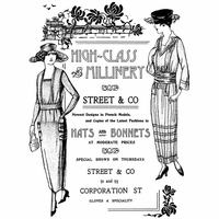 Crafty Individuals Unmounted Rubber Stamp - Hats and Bonnets