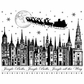 Crafty Individuals Unmounted Rubber Stamp - Jingle Bells Rooftops