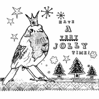 Crafty Individuals Unmounted Rubber Stamp - Jolly Robin