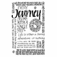 Crafty Individuals Unmounted Rubber Stamp - Journey Calligraphy