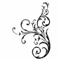 Crafty Individuals Unmounted Rubber Stamp - Large Elegant Swirl