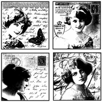 Crafty Individuals Unmounted Rubber Stamp - Love Letter Ladies