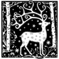 Crafty Individuals Unmounted Rubber Stamp - Magical Reindeer