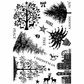 Crafty Individuals Unmounted Rubber Stamp - Mini Christmas Trees
